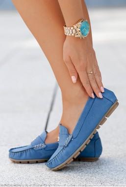 Niebieskie mokasyny Lira