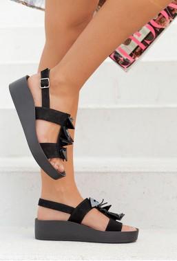 Czarne sandały Ankona