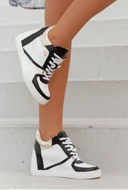 Biało-czarne sneakersy Epira