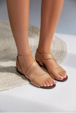 Sandały Hallie jasny brąz