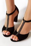 Czarne sandały Sway brokat