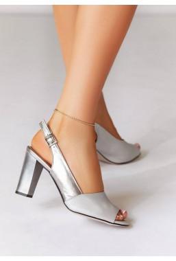 Metaliczne sandały Latica