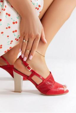 Koralowe sandały Melinda