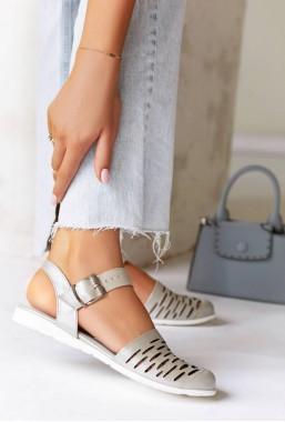 Srebrne sandały ażurowe Sonja
