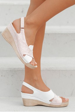 Różowe sandały Allora