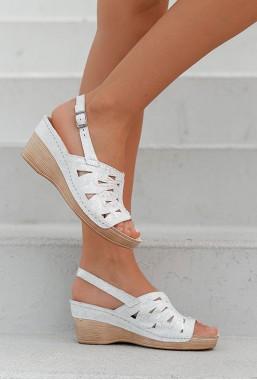 Białe sandały Azira HOLO