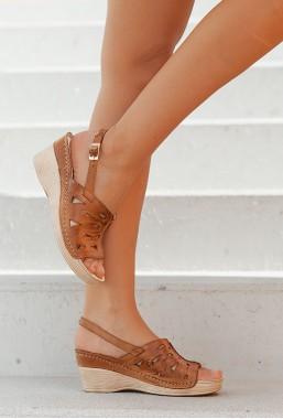 Sandały Azira jasny brąz