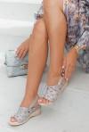 Szare sandały Azira HOLO