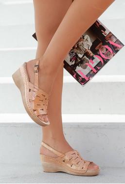 Orzechowe sandały Azira