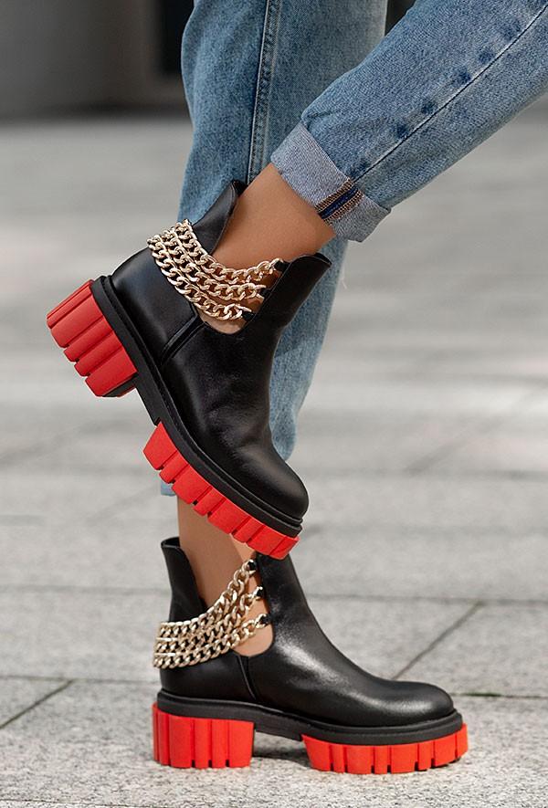 Czarne botki Avellino