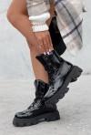 Czarne lakierowane botki Jenny