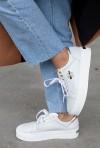 Biało-złote sneakersy Bazir