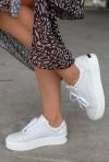 Białe sneakersy Bazir