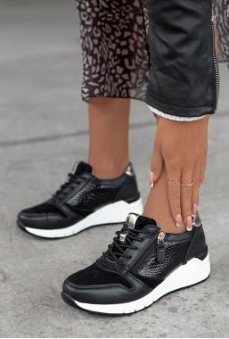Czarne sneakersy Palio