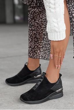 Czarne sneakersy Lovela