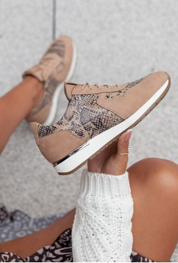 Beżowe sneakersy Amilia