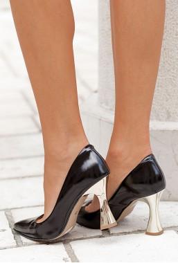 Luksusowe czarne szpilki Laila