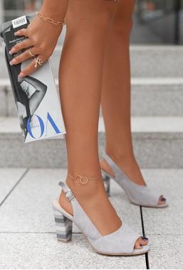 Popielate sandały Latica