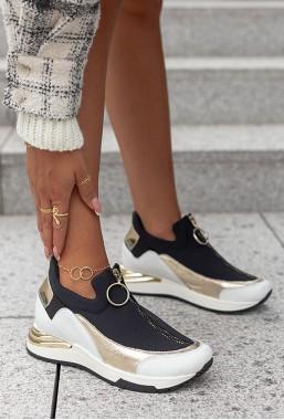 Biało-czarne sneakersy Marien