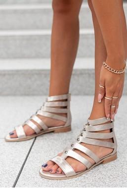 Platynowe sandały Stricesa