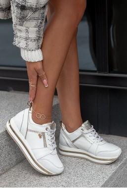 Białe sneakersy Soldi
