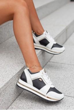 Czarno-białe sneakersy Soldi