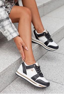 Biało-czarne sneakersy Soldi