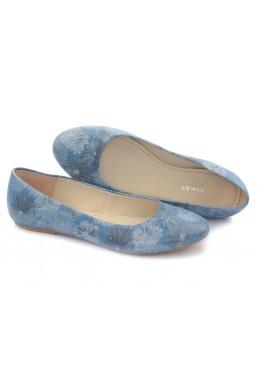 Niebieskie baleriny Valerie