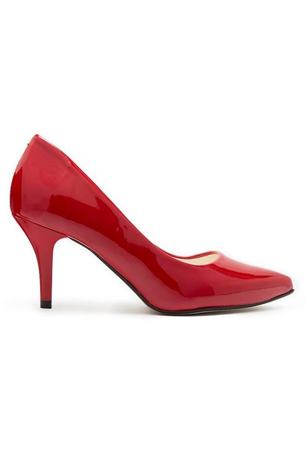 Czerwone lakierowane szpilki Laura