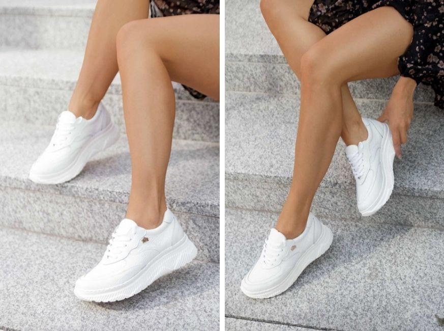 Białe sneakersy Shanice