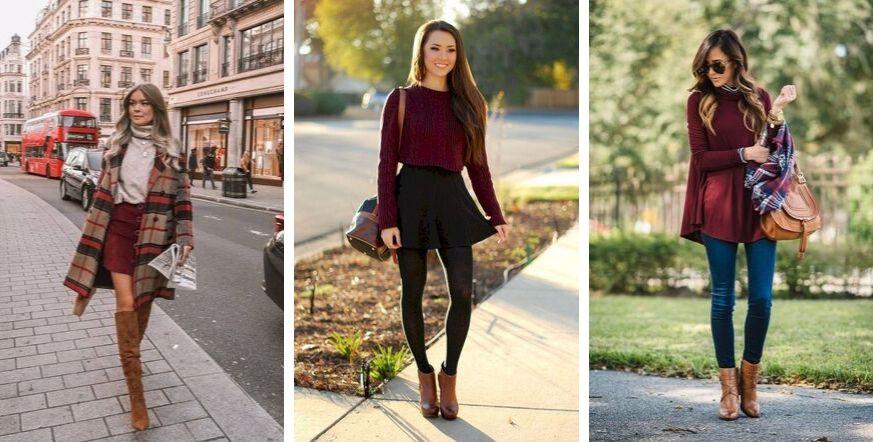 modne kolory na jesień 2019 burgund
